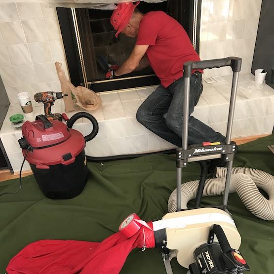 Chimney nest removal in Wheeling IL