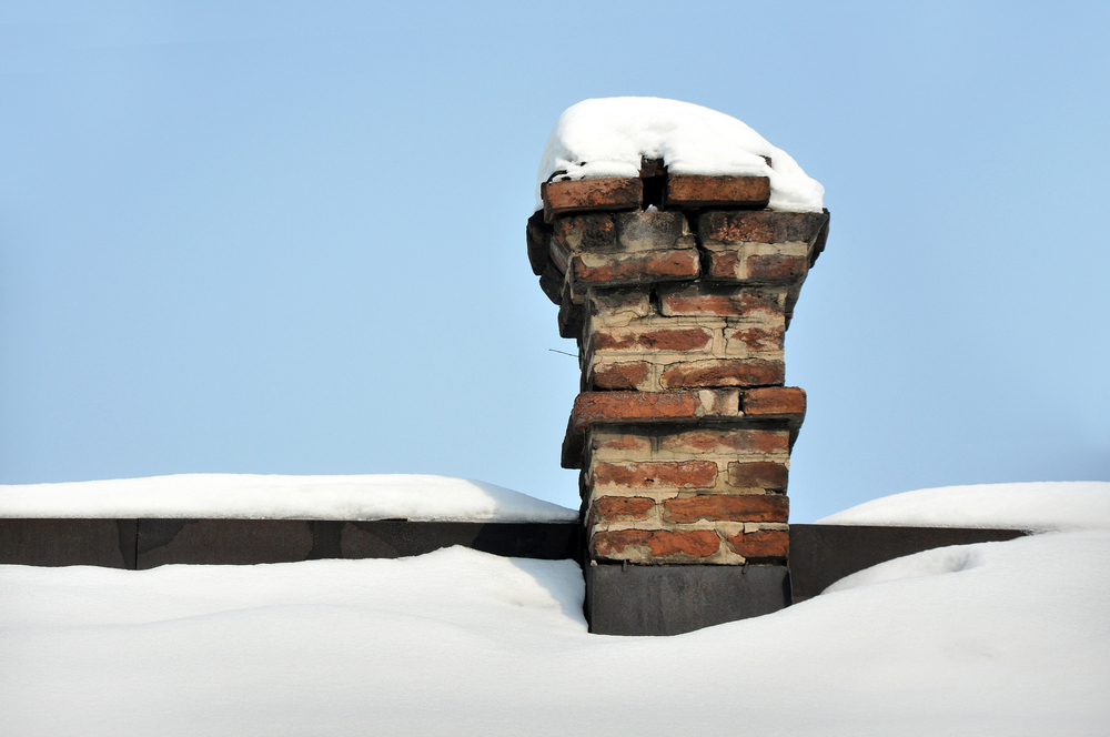 chimney service in winter