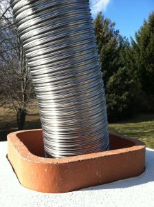 furnace flue liner installation chimney monkey